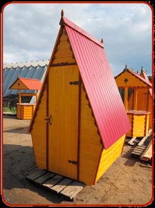 заказать деревянный домик для туалета